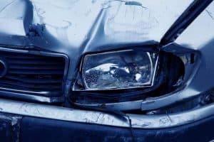 crashed headlamp