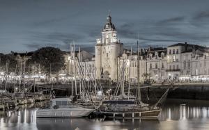 Overlooking the harbour in La Rochelle