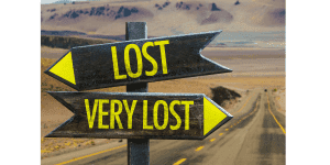 Sign showing that you're lost